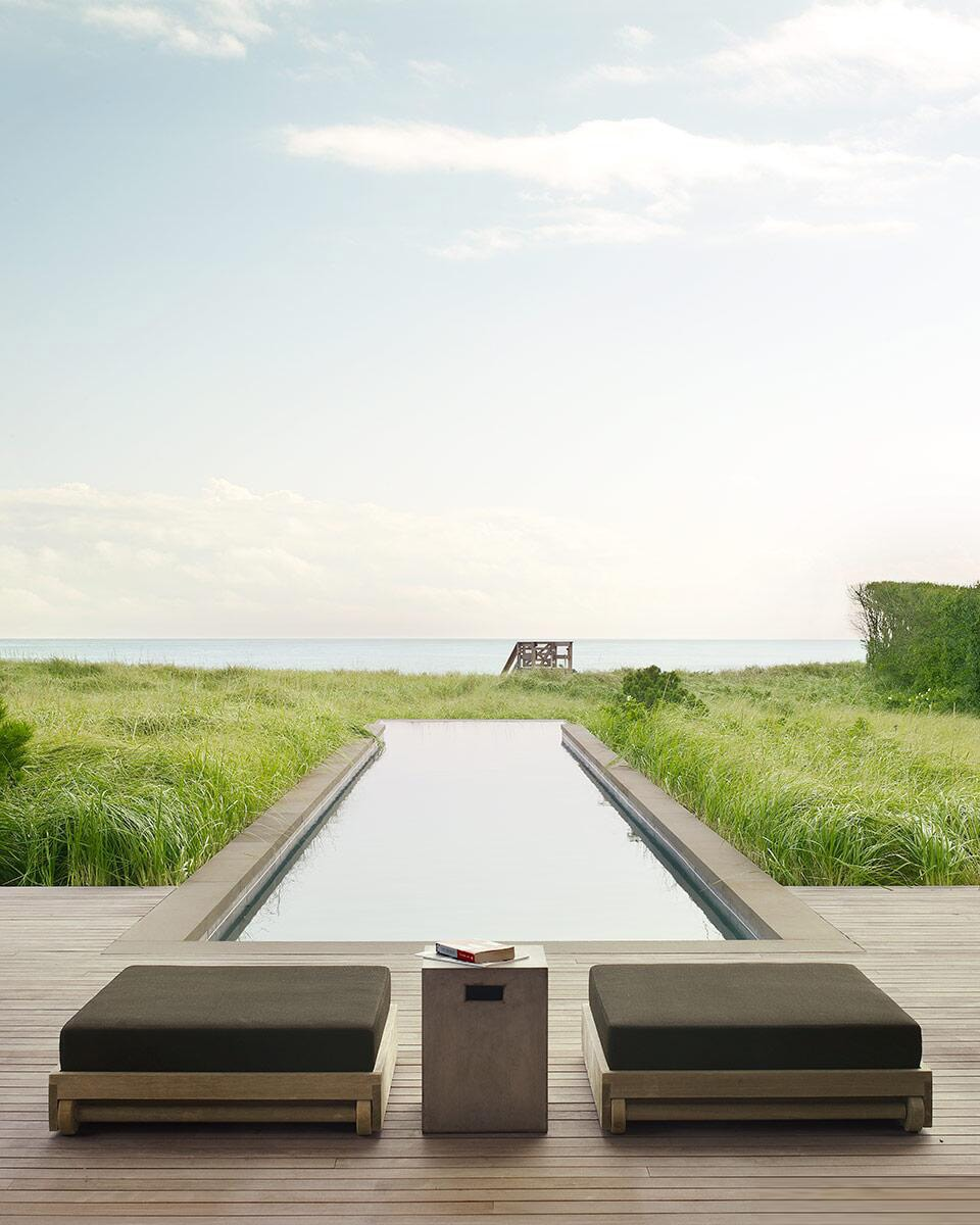 A cool and modern hamptons pool