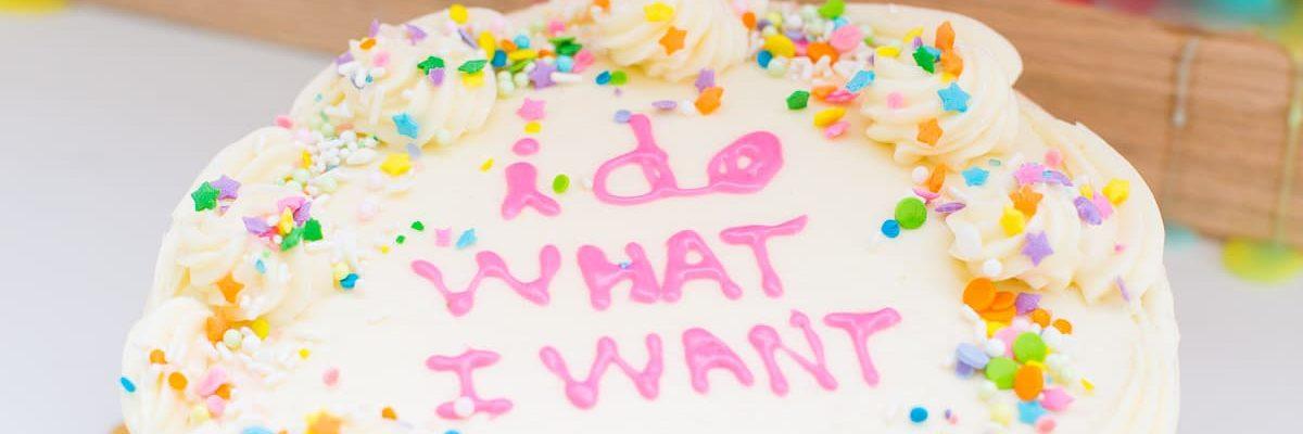 I do what I want birthday cake smash celebration - sugar and cloth