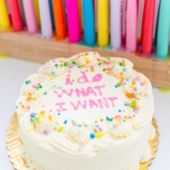 I do what I want birthday cake smash celebration - sugar and cloth