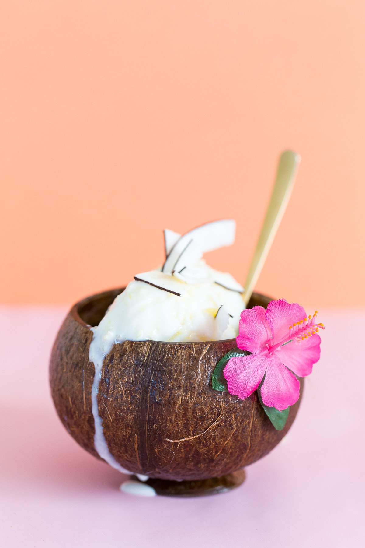 An easy No-Churn Creamy Pineapple Coconut Ice Cream recipe to make for a sunny or rainy Summer day! - sugar and cloth
