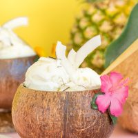Poolside Cool: No-Churn Creamy Pineapple Coconut Ice Cream