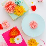 DIY Faux Flower Gift Topper Stickers