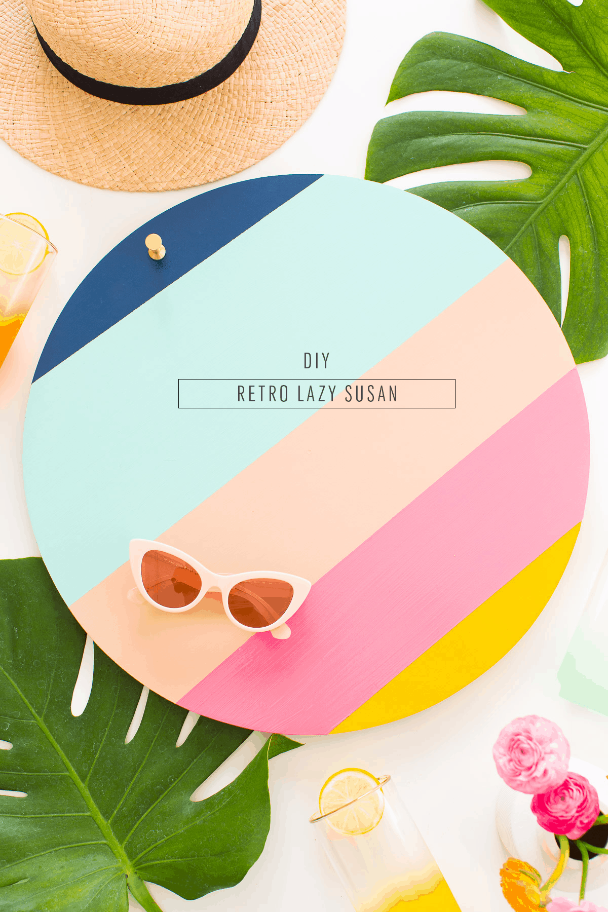 A DIY Retro Lazy Susan for Summer entertaining - sugar and cloth - houston blogger