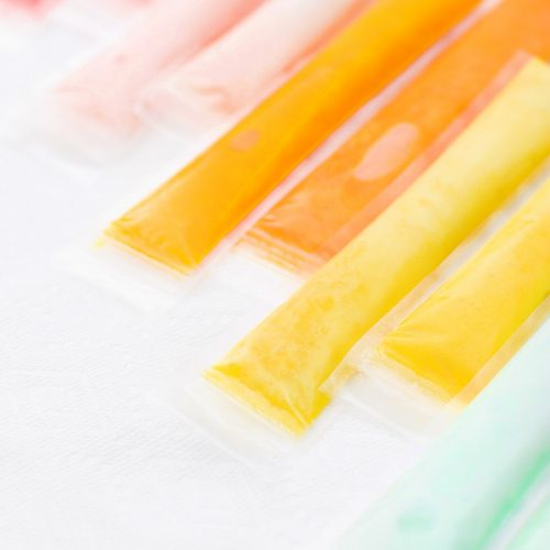 photo of colorful coconut homemade frozen freeze pops like fla-vor-ice
