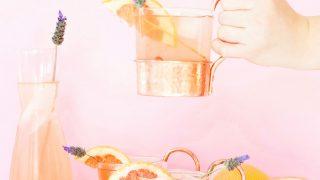 Lavender Grapefruit Gin Buck Cocktail