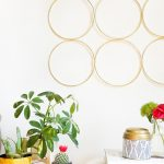 DIY Brass Ring Wall Decor