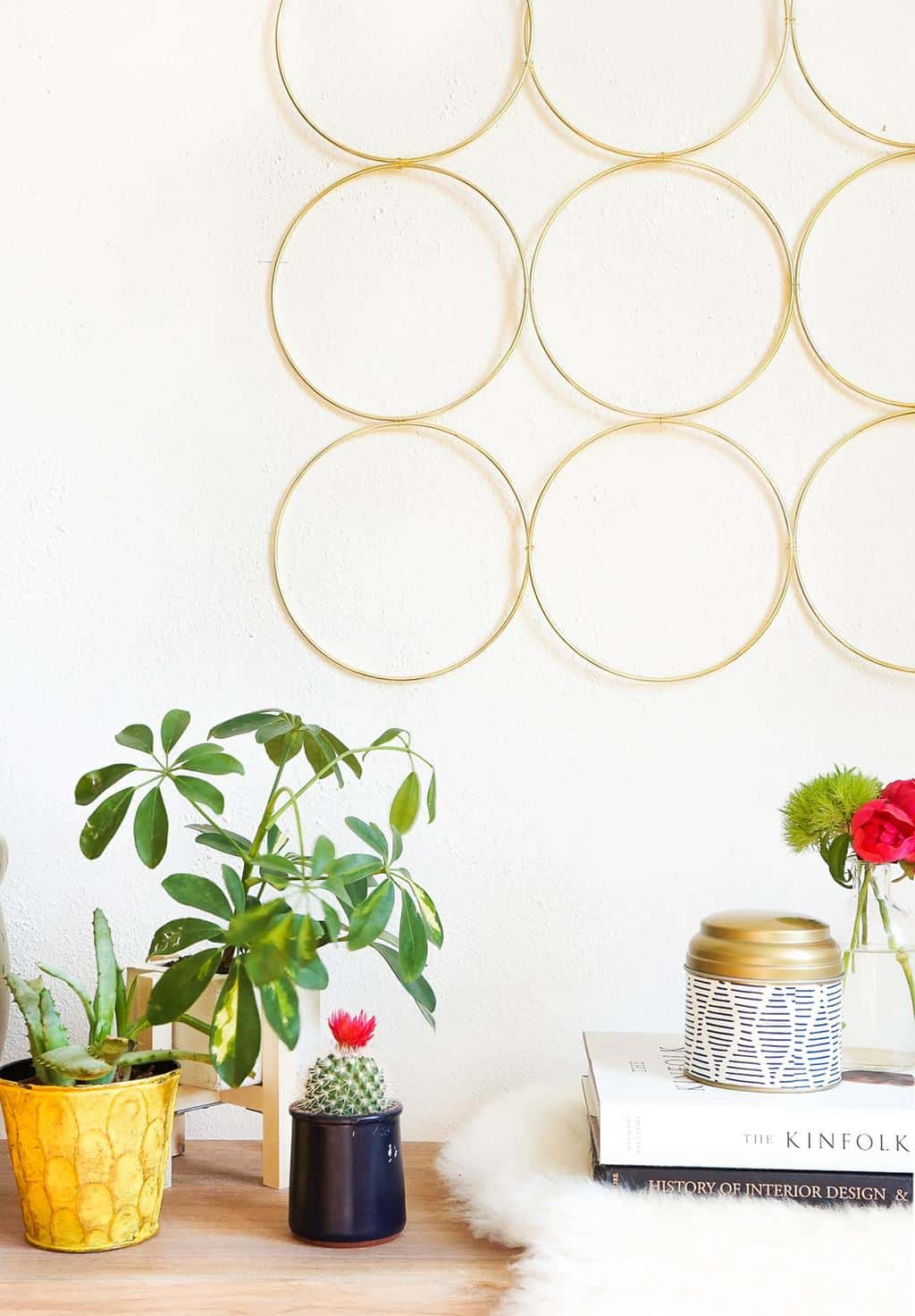 DIY Brass Ring Wall Decor | Sugar & Cloth
