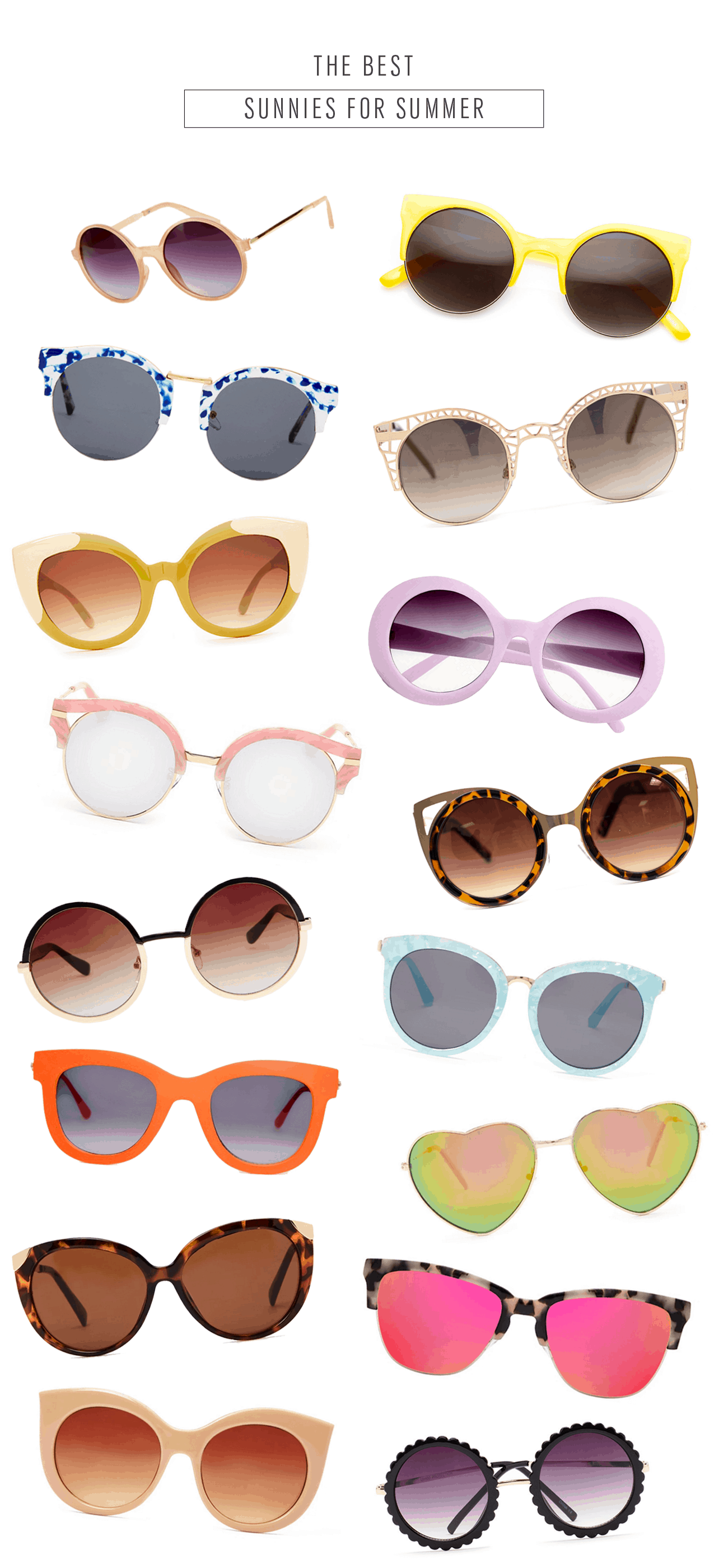We've rounded up our favorite, aka the BEST, retro sunglasses for Summer! - sugar and cloth