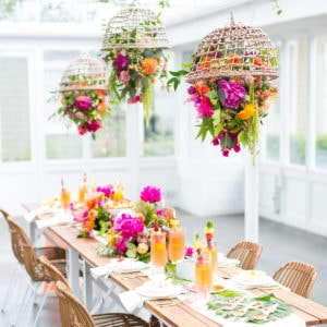 Our Tropical Garden Party and DIY Fruit Necklaces for Summer!