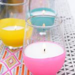 DIY Balloon Dipped Citronella Candles