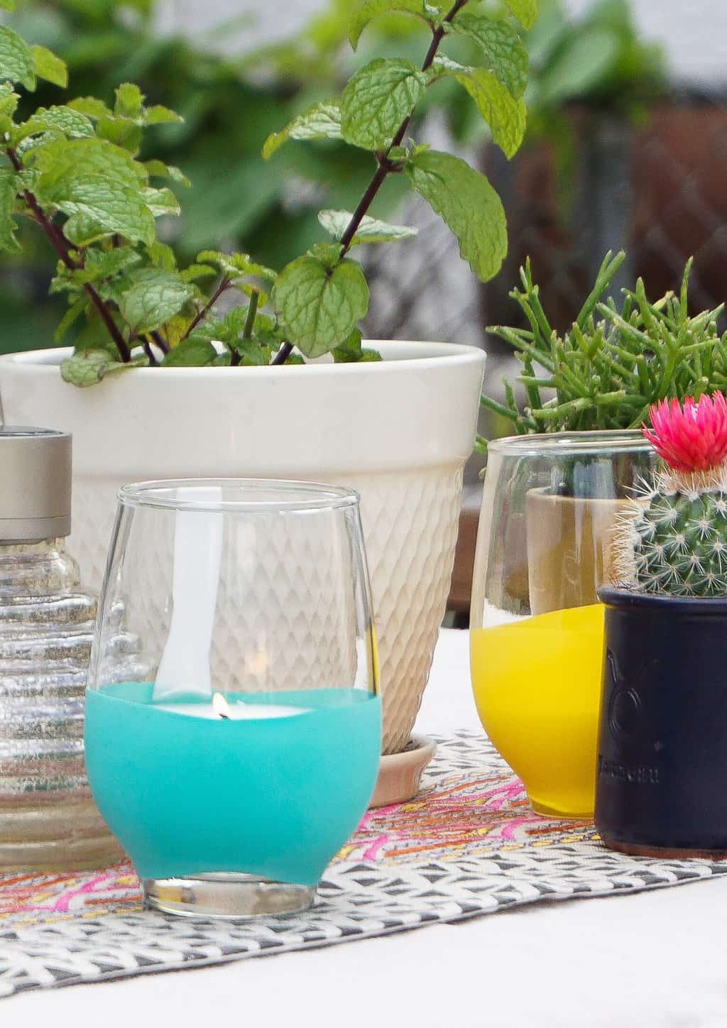 photo of how to make a homemade DIY Citronella Candle by top Houston lifestyle blogger Ashley Rose of Sugar & Cloth