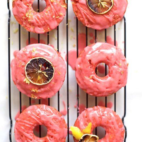 A yummy and colorful pink lemonade donuts recipe - sugar and cloth - houston blogger