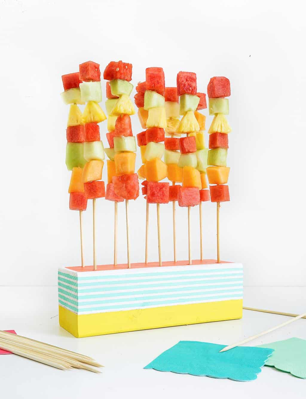 DIY Fruit Kabob Stand - Sugar & Cloth - DIY