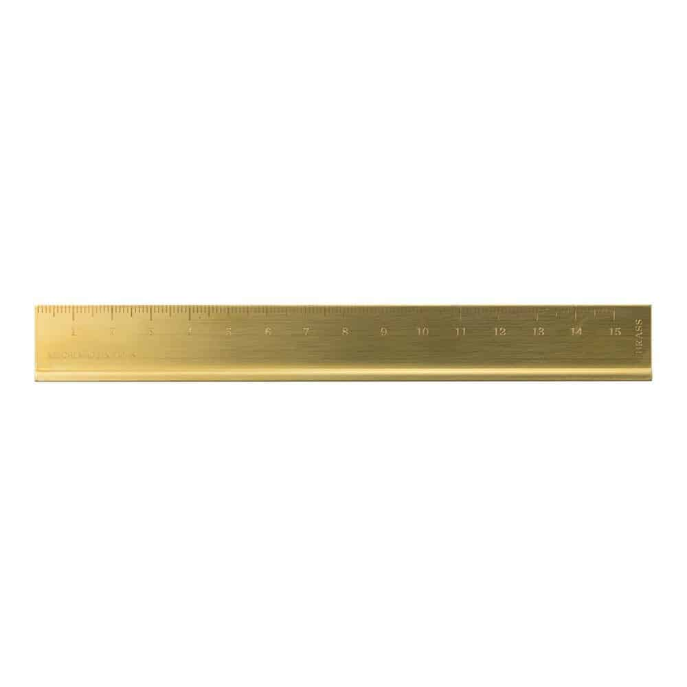 This Midori Brass Ruler is one of Sugar & Cloth's favorite DIY supplies.