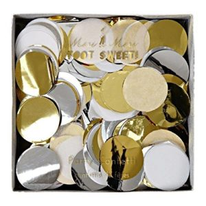 These Meri Meri Metallic Party Confetti are one of Sugar & Cloth's favorite holiday essentials.