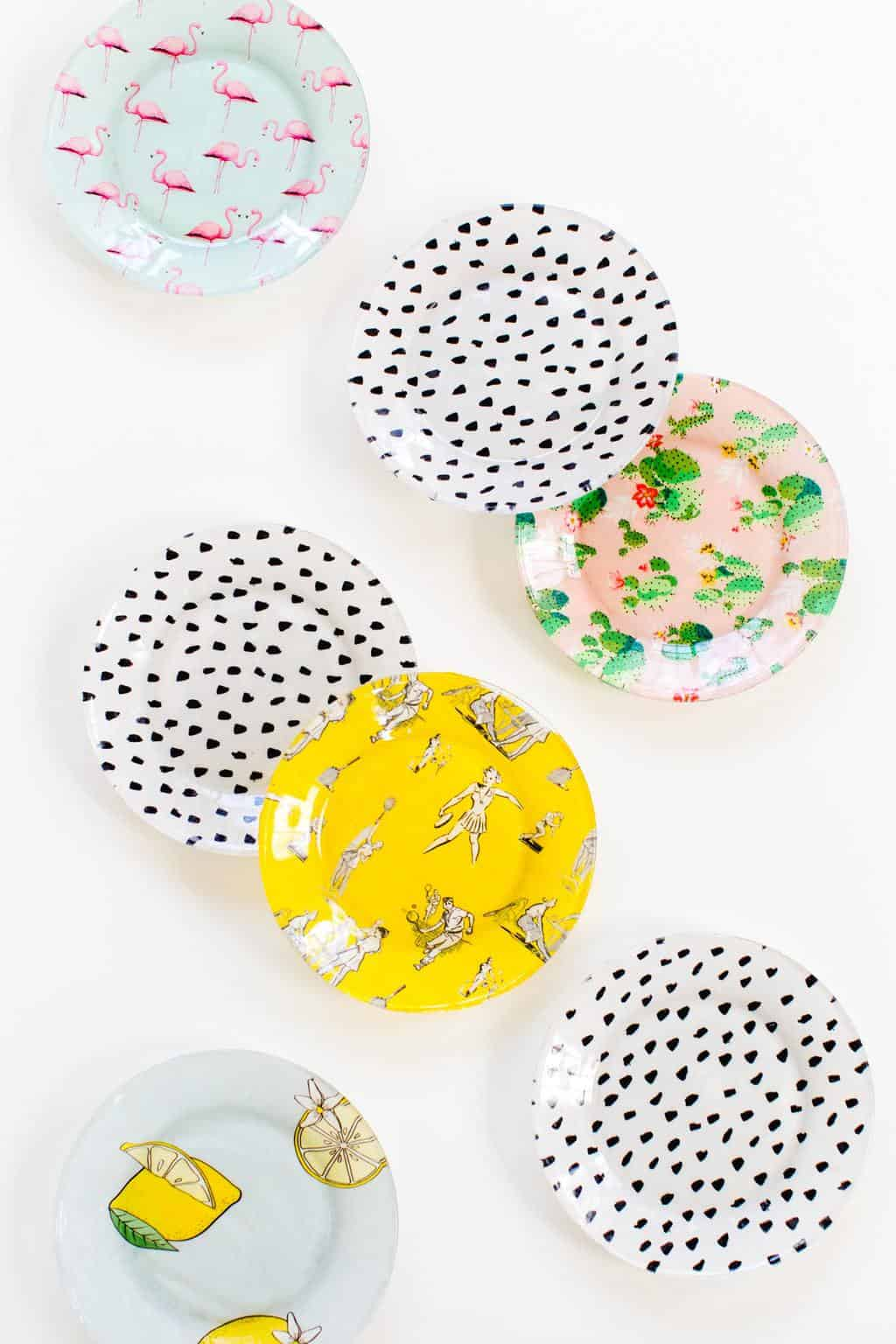 photo of DIY printed plates by top Houston lifestyle blogger Ashley Rose of Sugar & Cloth