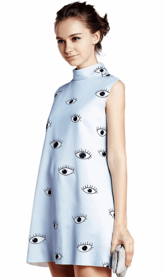 0ccd28a99afa This Choies Women s Eyes Print Sleeveless Dress is one of Sugar   Cloth s  favorite style finds