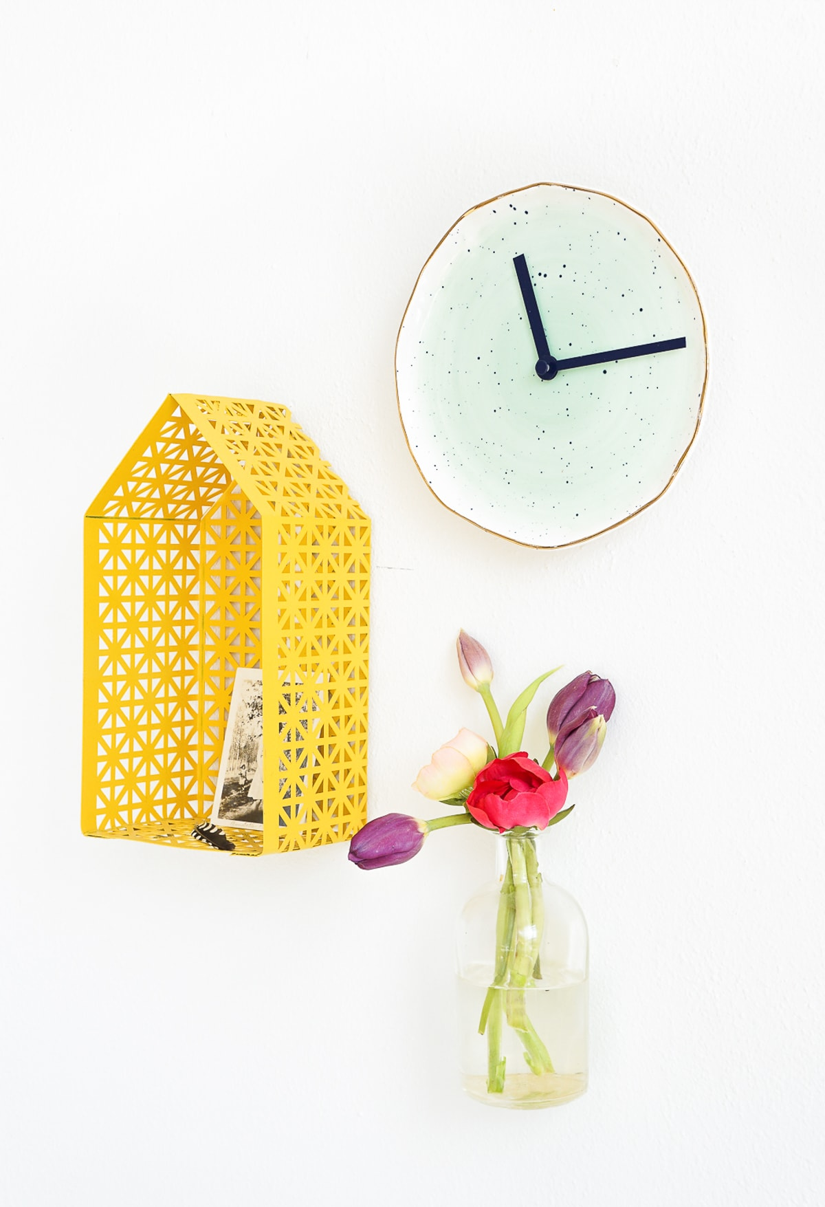 DIY Plate Clock - Sugar & Cloth - Home Decor - Houston Blogger