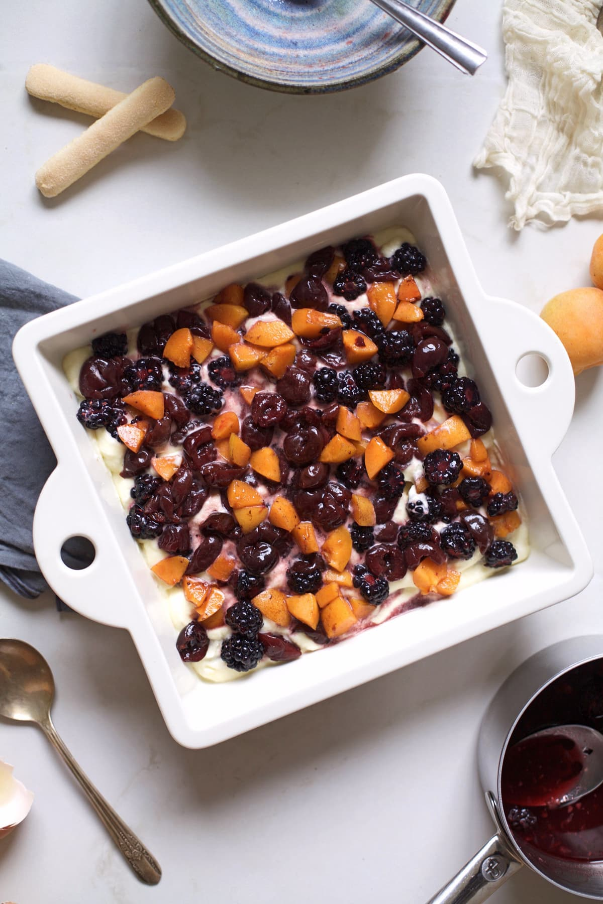 summer fruit tiramisu-Sugar & Cloth - Recipe - Houston Blogger - Cakes