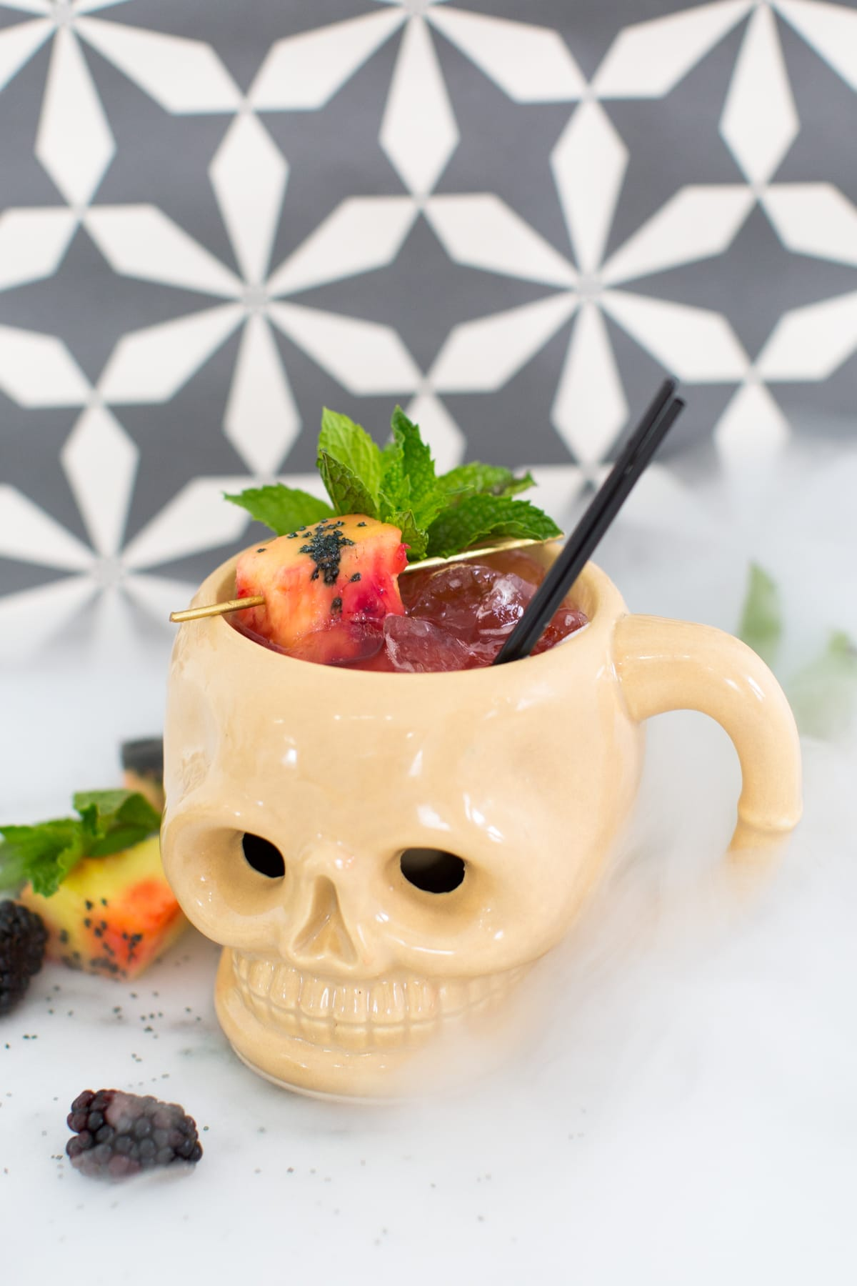 Flash Back Friday: Shrunken Skull Cocktail Recipe by Ashley Rose of Sugar & Cloth, a lifestyle blog in Houston, TX