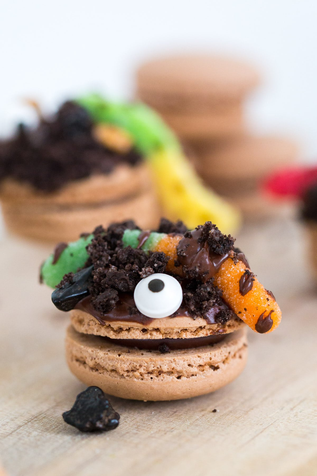 DIY Dirt Worm Macarons - sugar and cloth - houston blogger - ashley rose