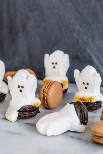DIY Melting Ghost Halloween Macarons - sugar and cloth - best DIY blog - macarons - houston blogger - ashley rose - entertaining blog