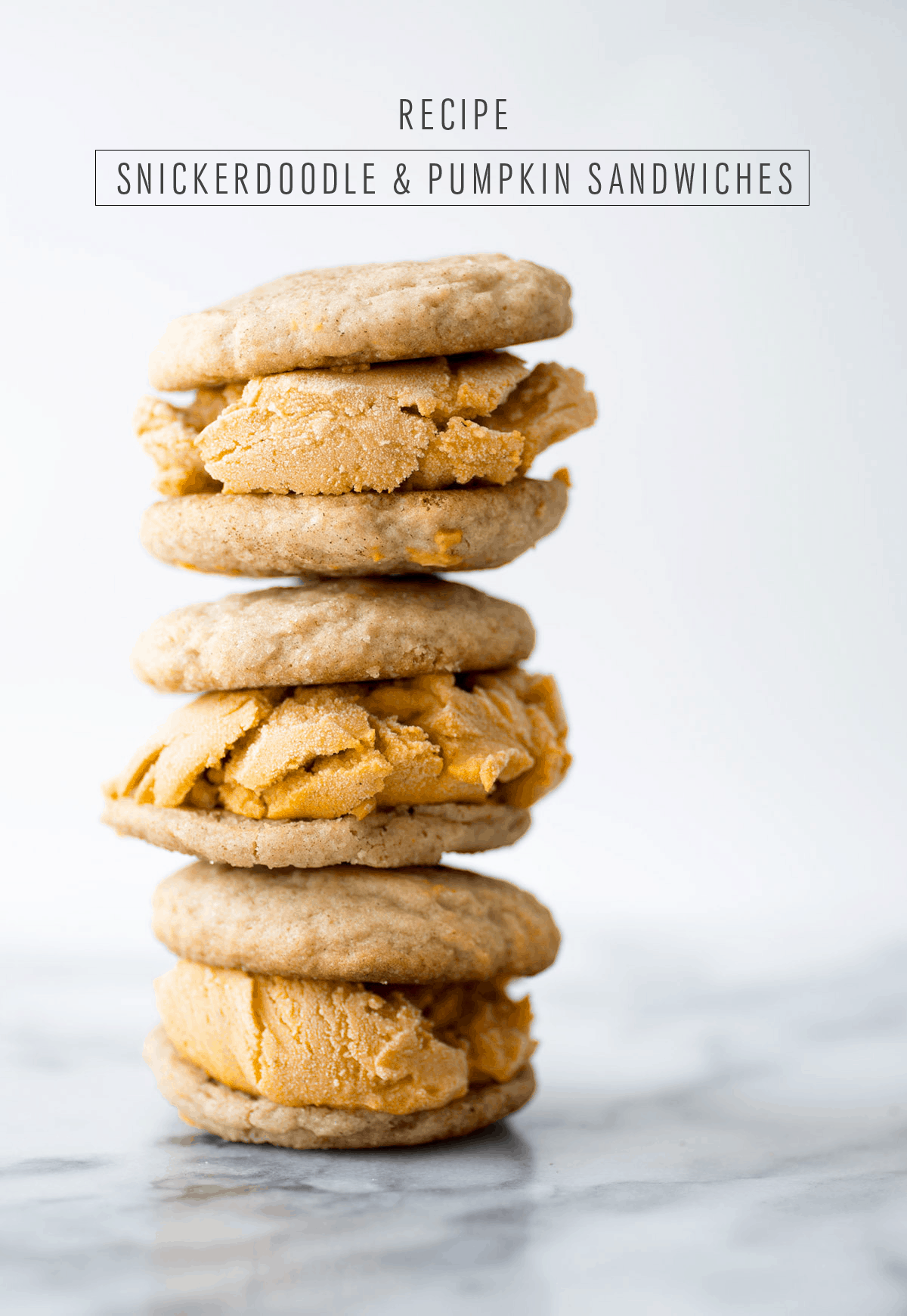 Snickerdoodle and Pumpkin Ice Cream Sandwich - Sugar & Cloth - Houston Blogger - Recipe