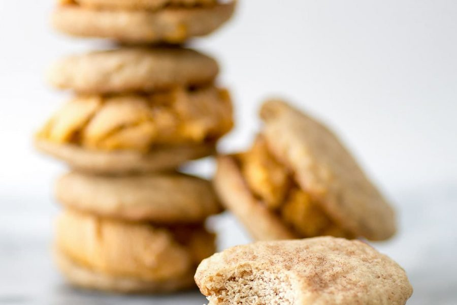 photo of by top Snickerdoodle Pumpkin Ice Cream Sandwiches by Houston lifestyle blogger Ashley Rose of Sugar & Cloth
