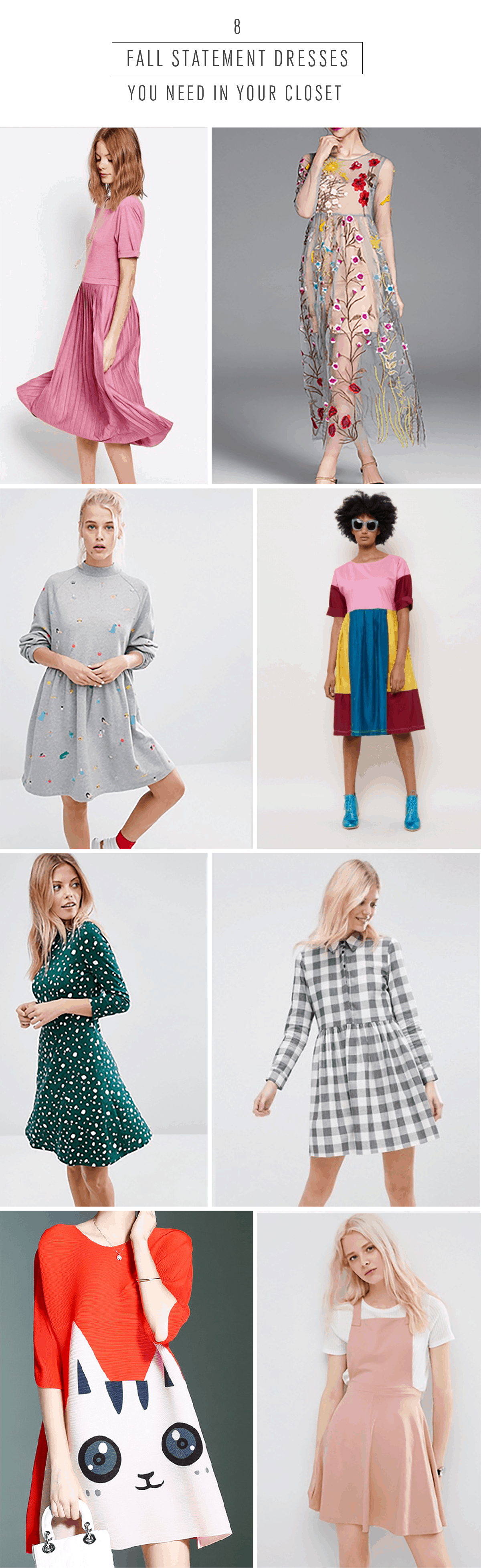 8 Fall Statement Dresses You Need In Your Closet - Sugar & Cloth - Houston Blogger - Shop - Style - Fall