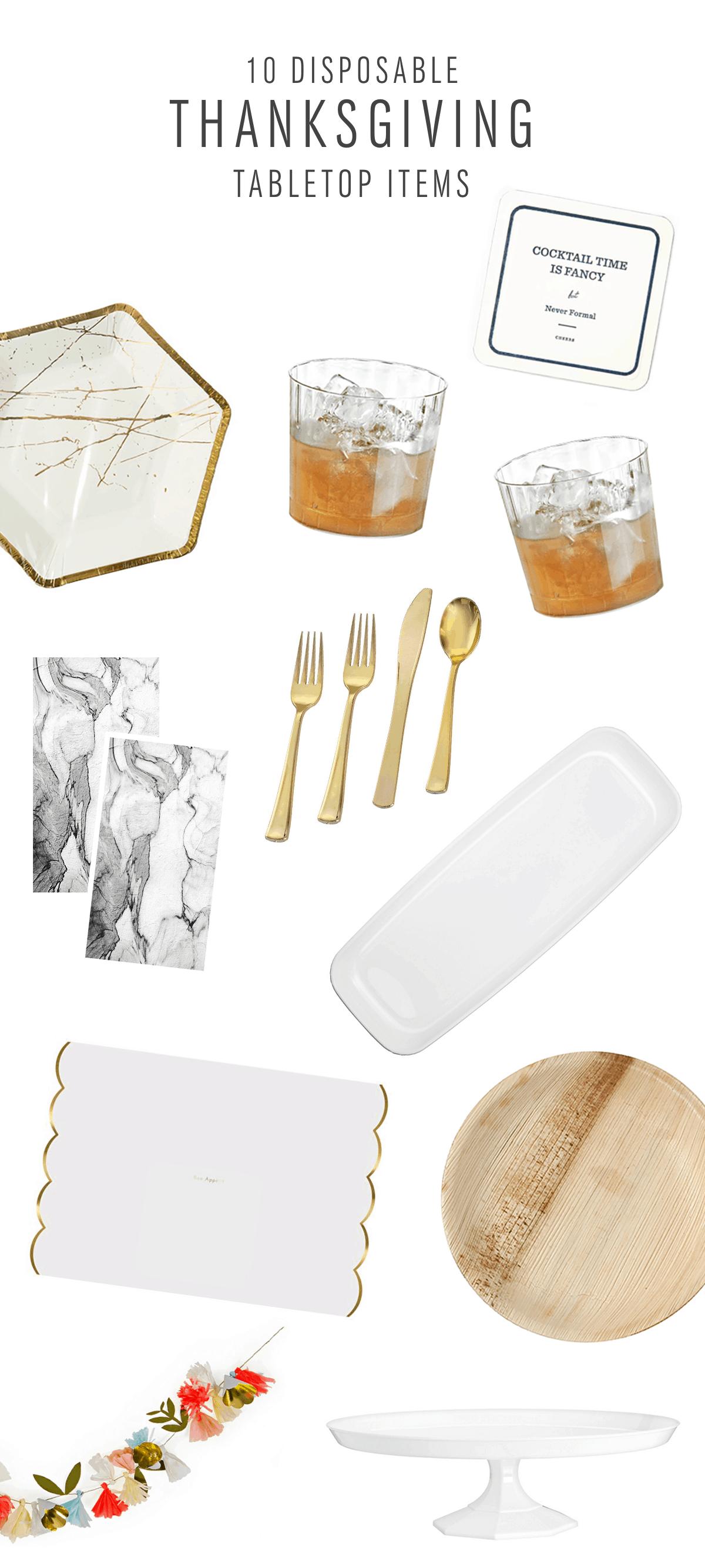 Disposable Thanksgiving Tabletop Items - Sugar & Cloth - Houston Blogger - Thanksgiving - Home Decor