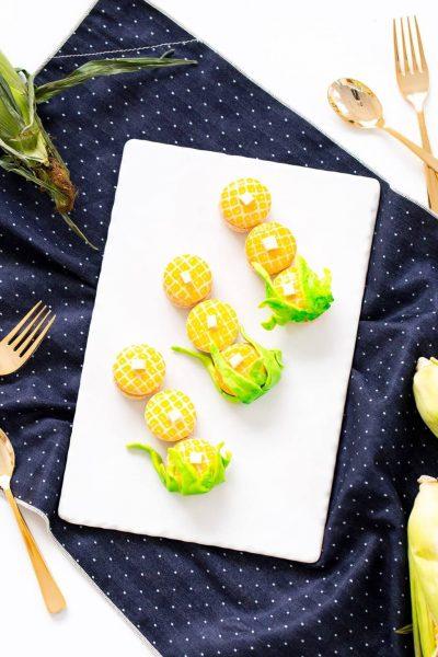 "Nothing says ""fall ya'll"" quite like DIY corn macarons, am I right?! - sugar and cloth - best diy blog - houston blogger - ashley rose"