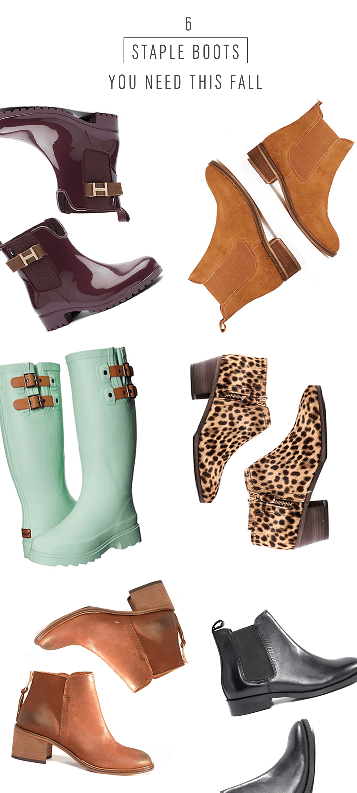 6 Staple Boots you Need this fall - Sugar & Cloth - Houston Blogger - Style - Fall - Shop