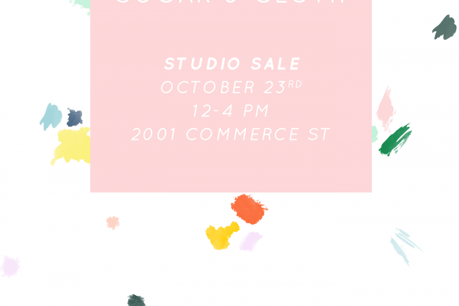Behind the scenes lately and our studio sale! - sugar and cloth