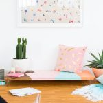 Abstract DIY Modern Low Bench
