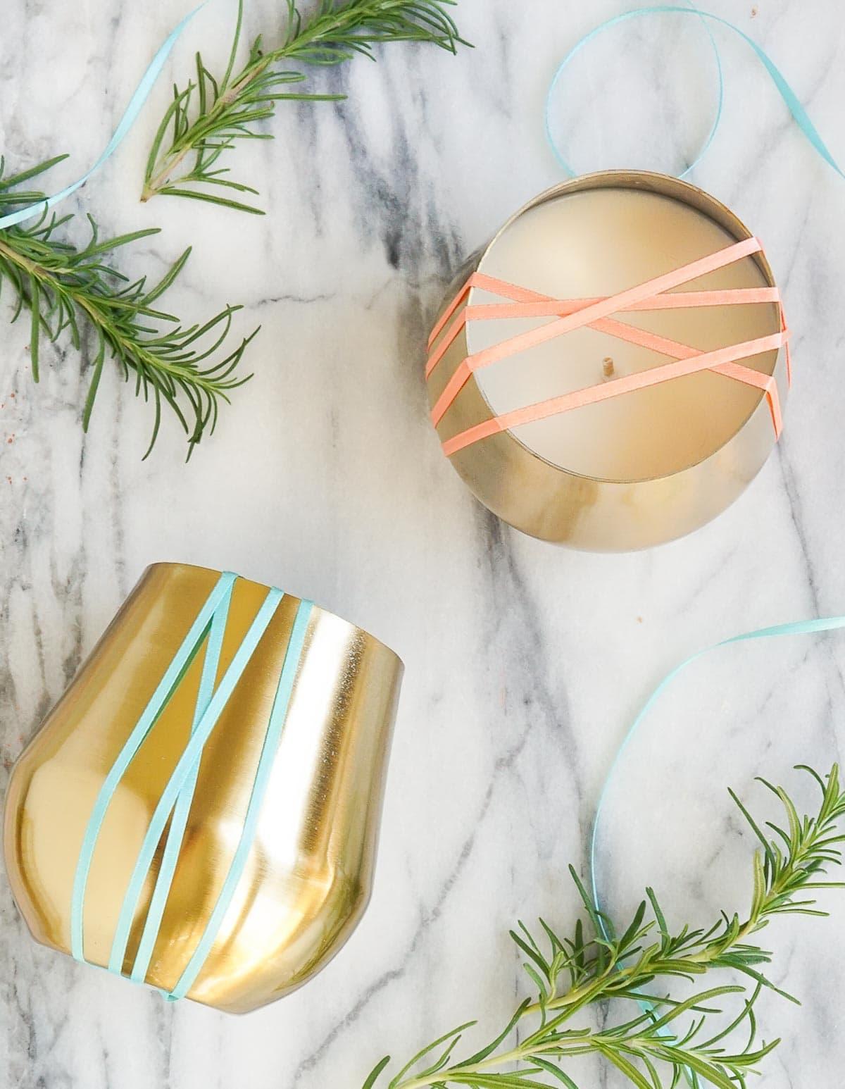 DIY Rosemary and Grapefruit Candle | Sugar & Cloth DIY