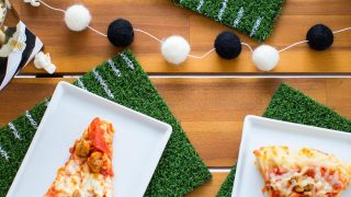 Football Party: DIY Football Coasters & Football Placemats