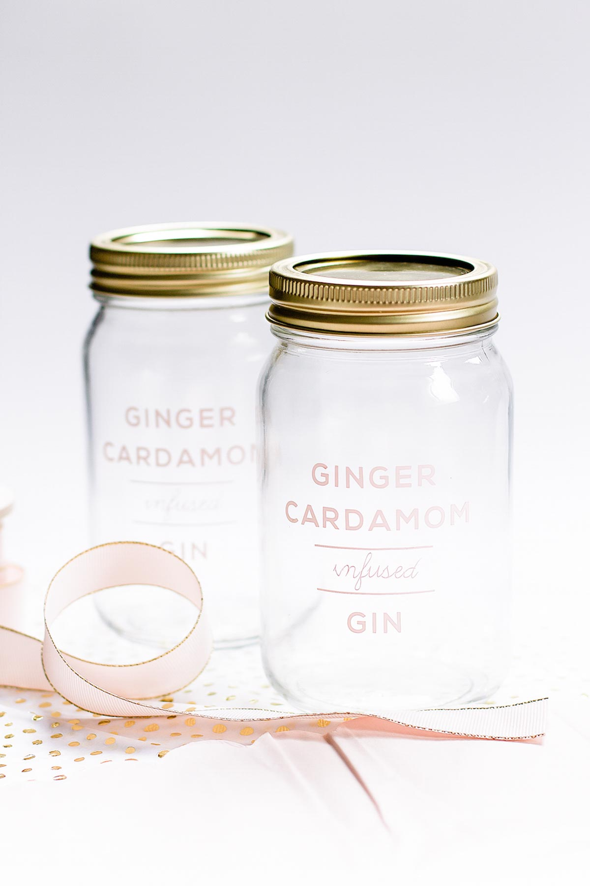 Ginger Infused Booze Holiday Gift Recipe by Sugar & Cloth, the award winning DIY blog.