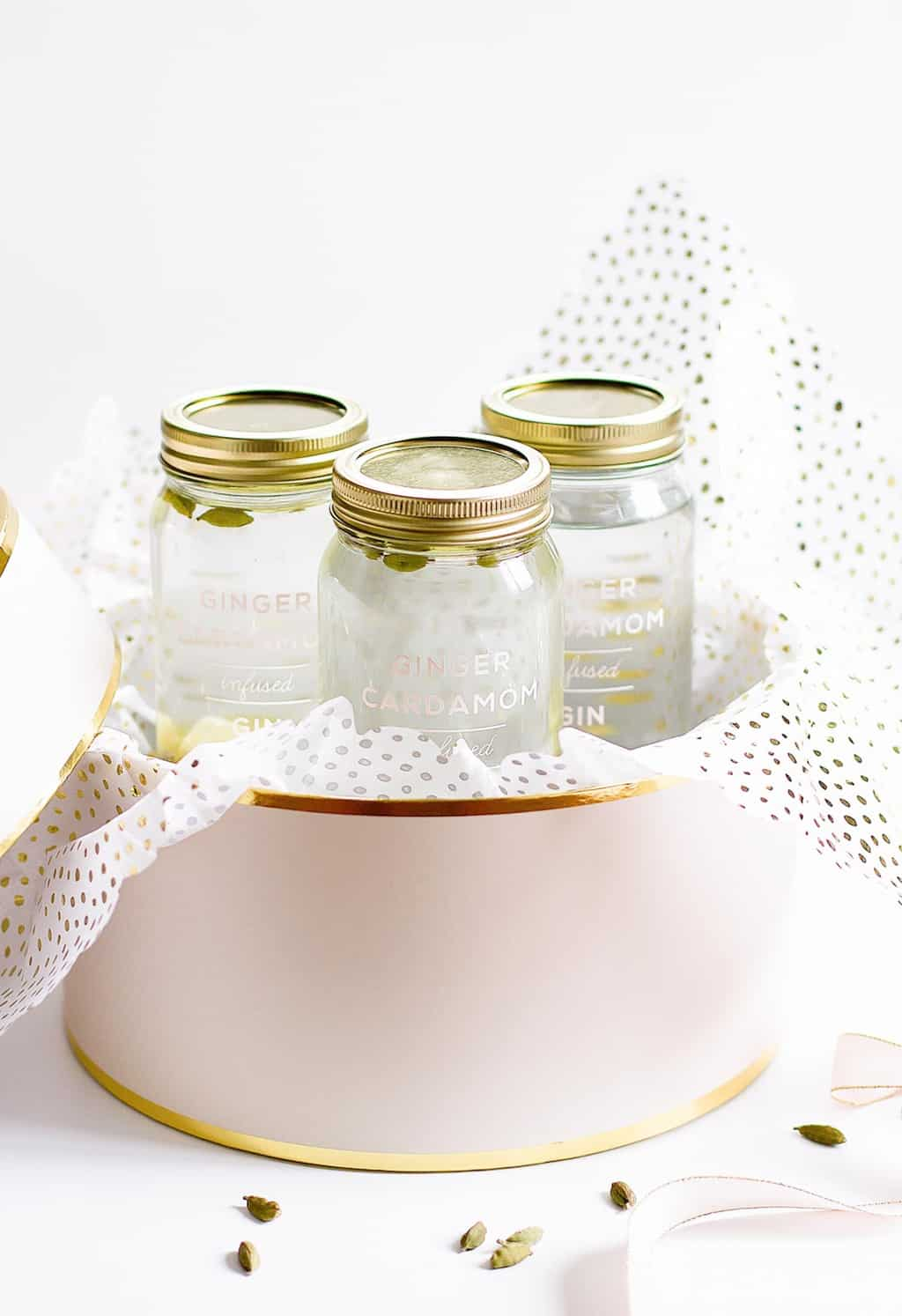 Ginger Infused Booze Holiday Gift Recipe by Sugar and Cloth, an award winning DIY blog.