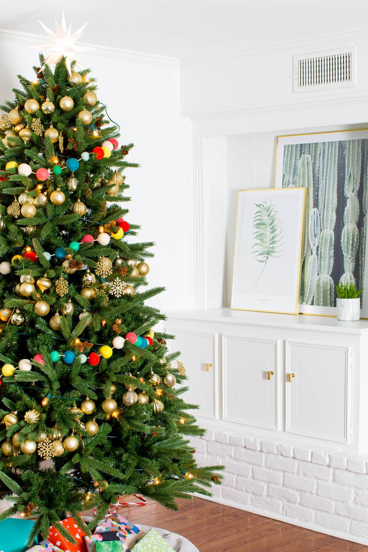 the holiday living room makeover we gifted with lowes by lifestyle blogger ashley rose of - Lowes Christmas Ornaments