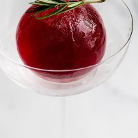 Ice Sphere Cocktail