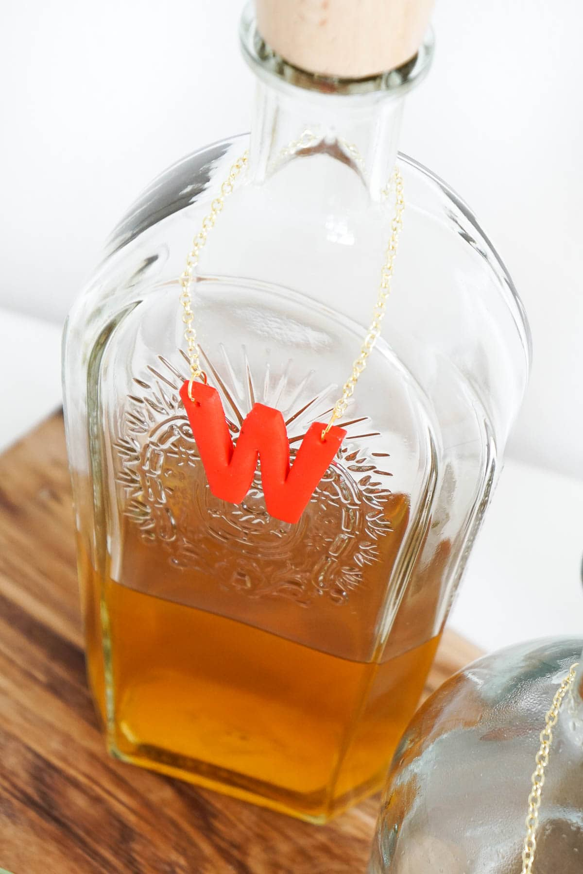 DIY Decanter Tags tutorial by Sugar & Cloth, an award winning DIY and lifestyle blog.