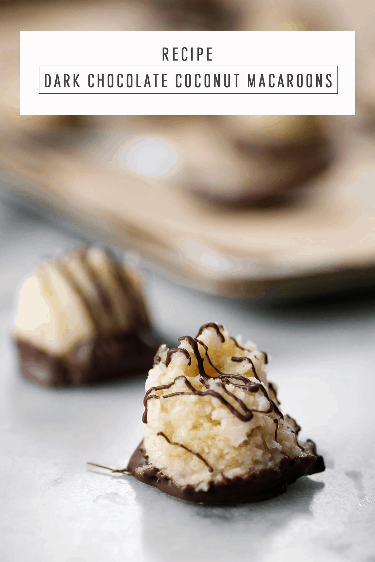 Dark Chocolate Coconut Macaroons recipe by Sugar & Cloth, an award winning DIY and lifestyle blog.