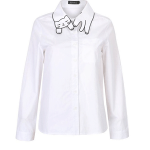 This Cat Collar Shirt is one of Sugar & Cloth's favorite style finds.