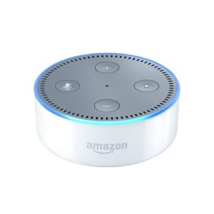 This Echo Dot is one of Sugar & Cloth's favorite entertaining finds.