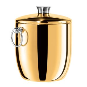 This Gold Ice Bucket is one of Sugar & Cloth's favorite entertaining finds.