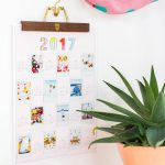 DIY Printable Photo Wall Calendar