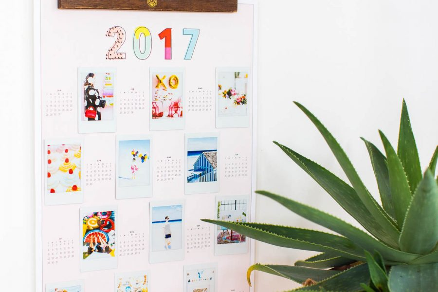 Free DIY Printable Photo Wall Calendar by lifestyle blogger Ashley Rose of Sugar & Cloth
