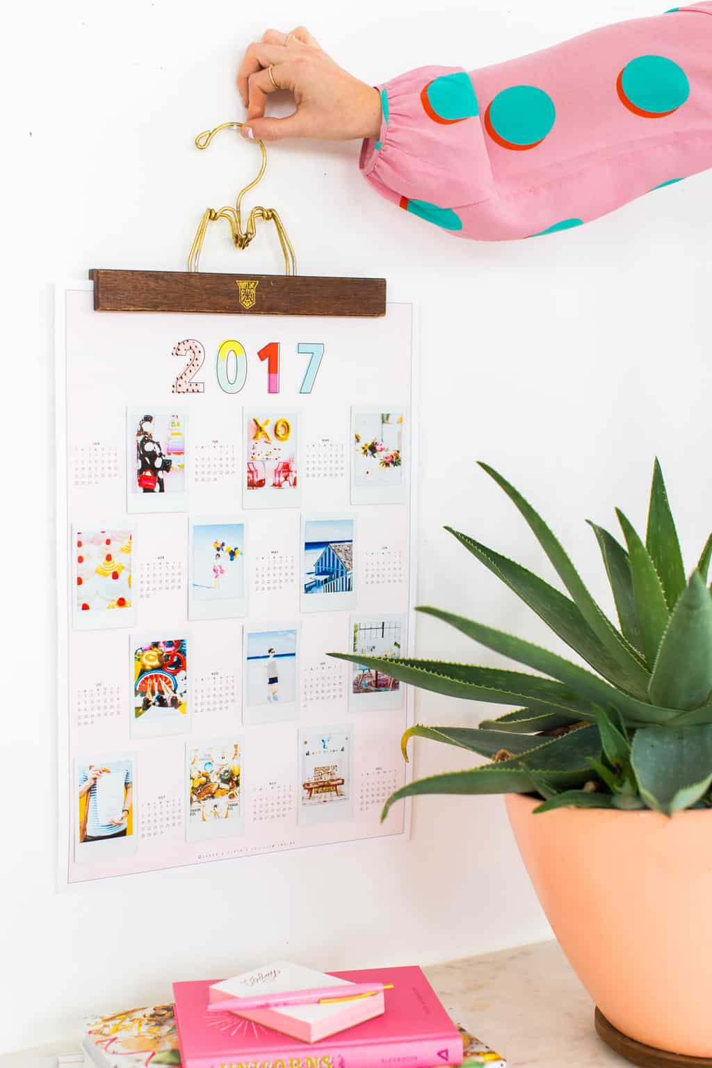 Diy Calendar Background : Diy printable photo wall calendar sugar cloth