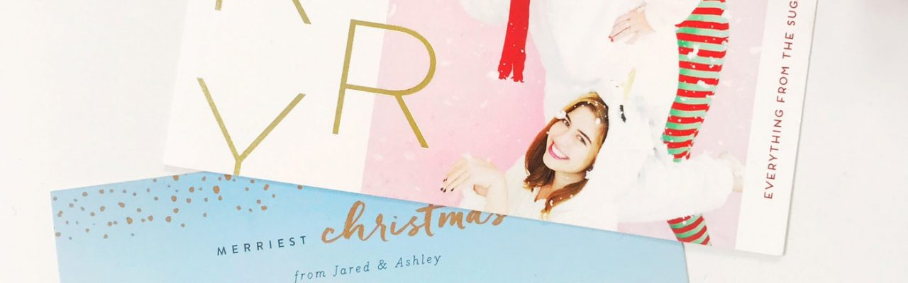 Our Christmas cards and a Happy 2017 and a Behind The Scenes Lately Update by lifestyle blogger Ashley Rose of Sugar and Cloth