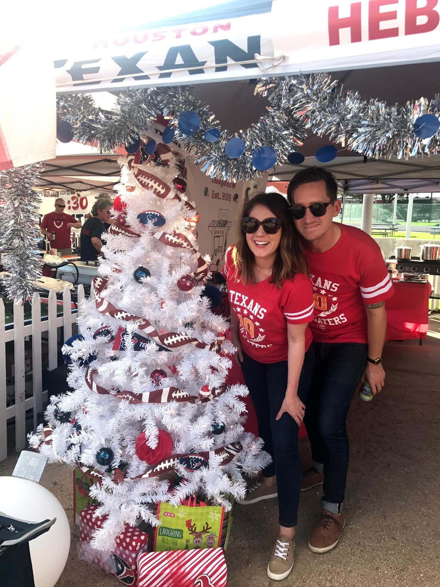 Texans tailgate and a Happy 2017 and a Behind The Scenes Lately Update by lifestyle blogger Ashley Rose of Sugar and Cloth